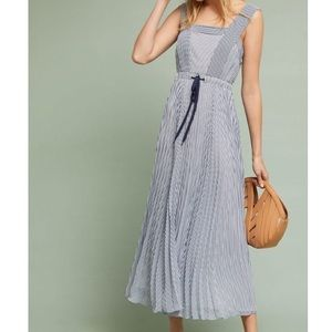 MAEVE Maxi Dress Summer Darcy Stripe Tie Waist NWT